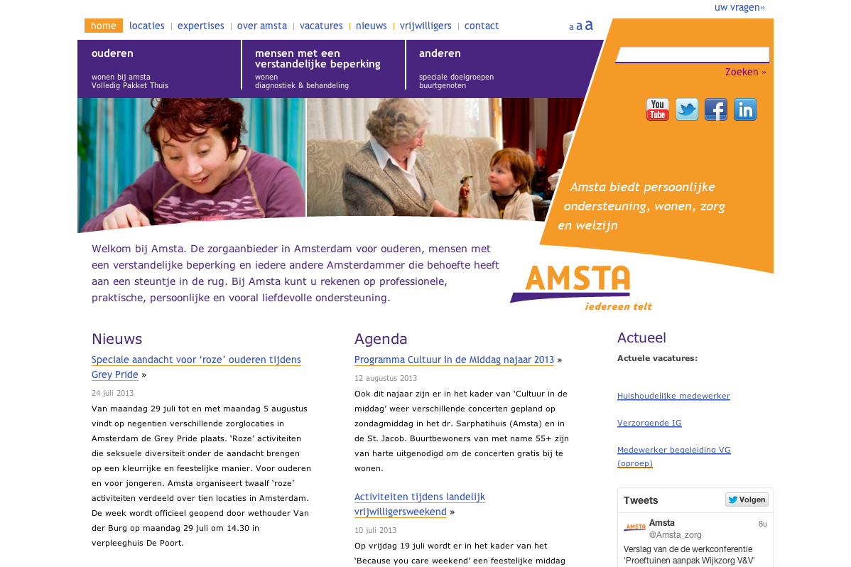 Amsta - Home - desktop