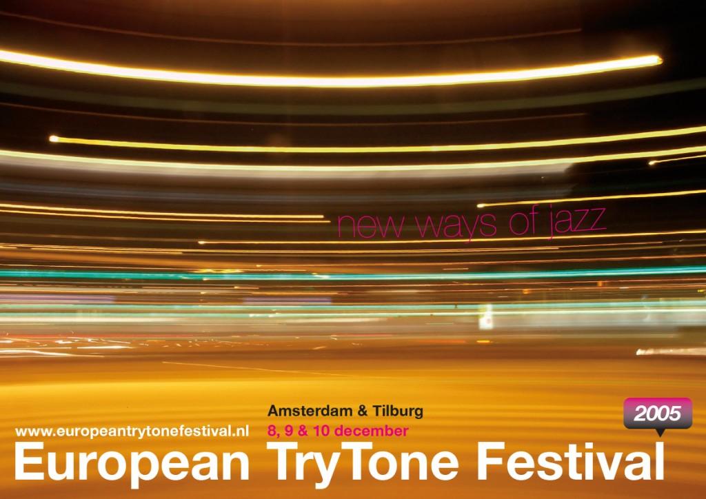 Flyer voorzijde, European TryTone Festival 2005