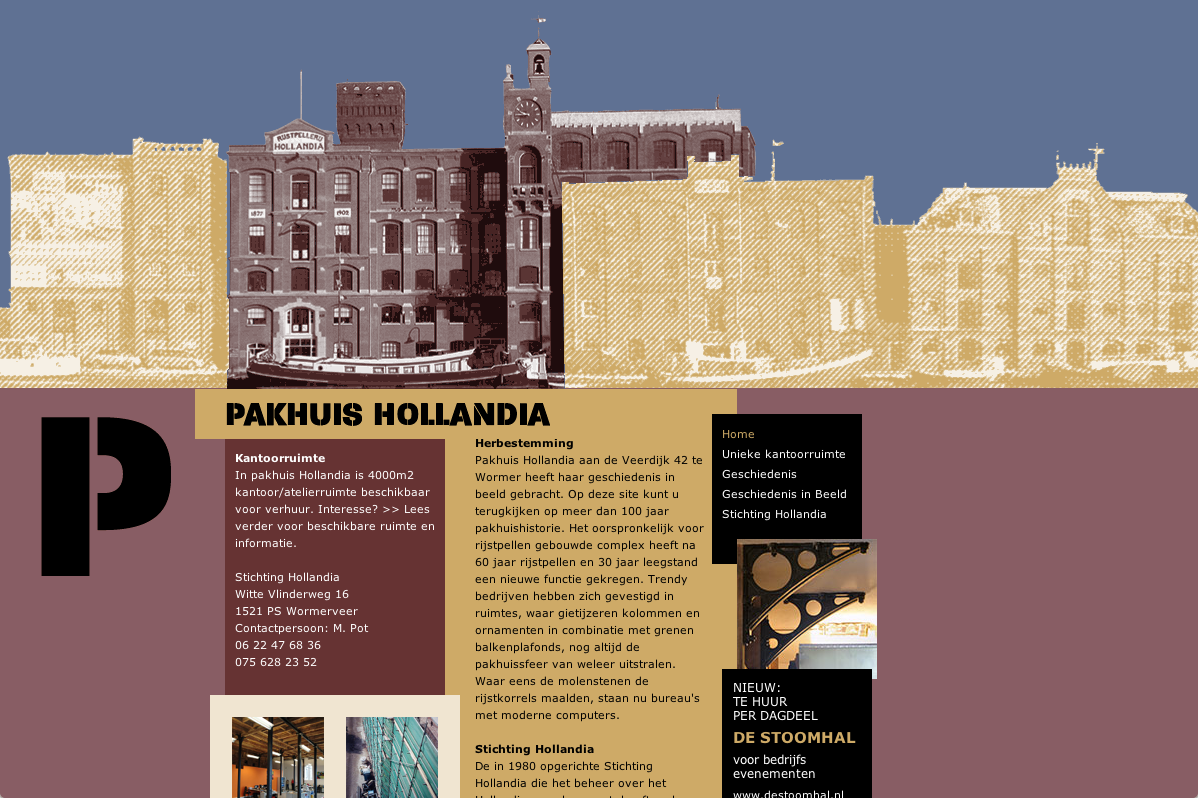 Pakhuis Hollandia - Home - desktop